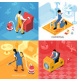 cleaning service isometric concept vector image