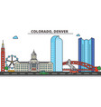 colorado denvercity skyline architecture vector image vector image