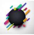 colorful round background on white vector image vector image