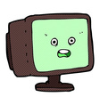 comic cartoon computer screen vector image vector image