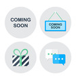 Coming soon shopping icons set vector image