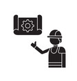 construction idea black concept icon vector image vector image