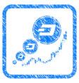 dashcoin inflation chart framed stamp vector image vector image
