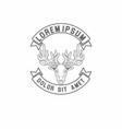 deer vintage logo vector image vector image