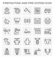 firefighting system icon vector image