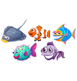Five different fishes vector image vector image