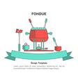 Fondue party vector image vector image