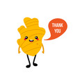 ginger root character saying thank you vector image vector image
