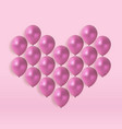 glossy heart balloons background vector image vector image