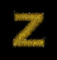 gold dust font type letter z vector image
