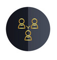 group people icon black circle background i vector image vector image