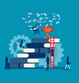 growth in career ladder success in work concept vector image vector image