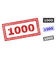 grunge 1000 scratched rectangle stamps vector image vector image