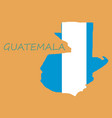 guatemala map with shadow effect vector image vector image