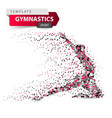 gymnastics sport - dot on the white vector image vector image