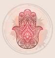 henna of hamsa with boho pattern and vector image vector image