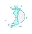 hookah icon design vector image