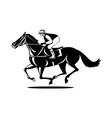 horse and jockey racing vector image vector image