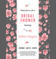 invitation bridal shower card with sakura flowers vector image vector image