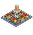 isometric residential quarter vector image