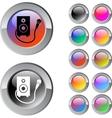 Karaoke multicolor round button vector image