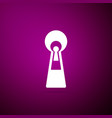keyhole icon isolated on purple background vector image