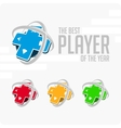 logo best player vector image vector image