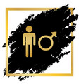 male sign golden icon at vector image vector image