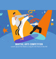 martial arts competition flat vector image