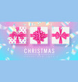 merry christmas and happy new year trendy vector image vector image