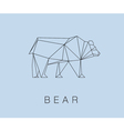 modern icon of Bear logotype design vector image