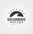 ocean wave vintage logo graphic symbol design vector image vector image