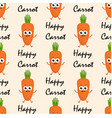 pattern with cartoon carrots vector image vector image