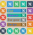 Pencil with ruler icon sign Set of twenty colored vector image