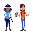 People police officer and artist different vector image