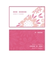 pink abstract flowers horizontal corner frame vector image vector image