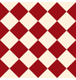 Red Cream Chess Board Diamond Background vector image vector image