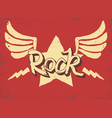 rock star lettering hand drawn poster or t-shirt vector image vector image