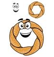 Round pretzel vector image vector image