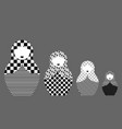 russian nesting dolls matrioshka set icon vector image