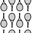 seamless pattern hand draw tennis racket vector image vector image
