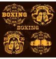 Set of vintage boxing emblems labels badges vector image vector image