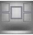 Set of Wood Grey Frames vector image