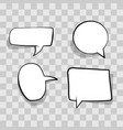 set white speech bubble cloud comic template on vector image vector image