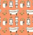 Sketch bathroom and toilet equipment in vintage vector image vector image