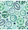 Sports balls seamless patterns backgrounds vector image