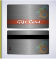 Steel Gift Card vector image vector image