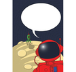 Stranded astronaut vector | Price: 1 Credit (USD $1)