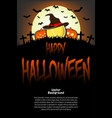tennis ball with witch hat and happy hallowen vector image vector image