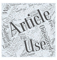 Tips for Submitting Outsourced Articles to vector image vector image